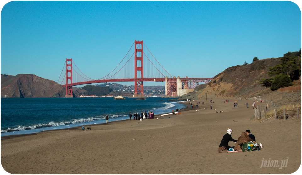 San Francisco, Golden Gate, California, USA, Ameryka, Bakers Beach,
