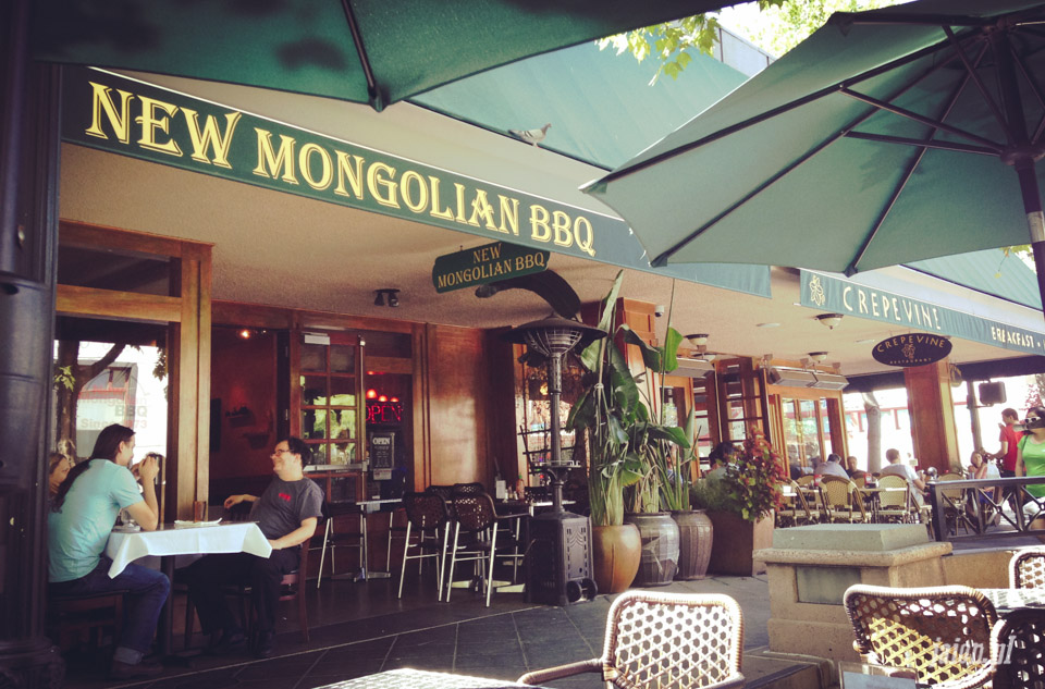 Lunch w New Mongolian Barbeque