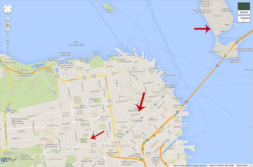 blog usa ameryka san francisco mapa stany zjednoczone