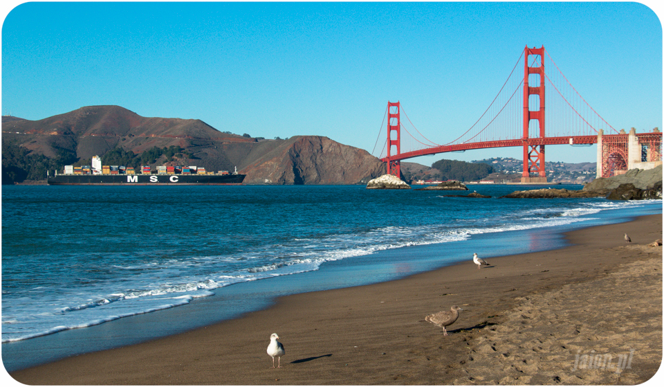 San Francisco, Golden Gate, California, USA, Ameryka, Bakers Beach